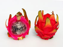 Two dragon fruit Royalty Free Stock Photos