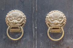 Two dragon lion handles Royalty Free Stock Photography
