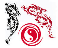 Two dragons Stock Image