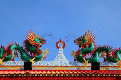 Two dragons fighting Royalty Free Stock Photo