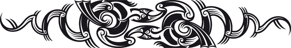 Two dragons pattern. Stock Image