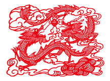 Two dragons playing an orb Royalty Free Stock Images
