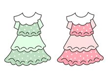 Two dresses Royalty Free Stock Photo