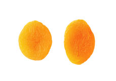 Two dried apricots Royalty Free Stock Photo