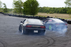Two drifting cars Stock Photo