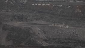 Two drilling rigs at the open pit. Two drilling rigs at the coal open pit stock video footage