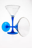 Two drink glasses. Two drink glasses over a white background Stock Images