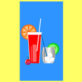 Two drinks Stock Image