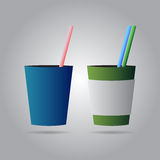 Two drinks with straws Royalty Free Stock Image