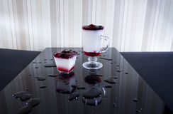 Two drinks  on table bar Royalty Free Stock Image