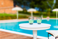 Two Drinks on a table Stock Photography