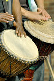 Two drummers royalty free stock image