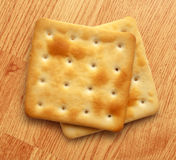 Two dry cracker cookies Royalty Free Stock Photo