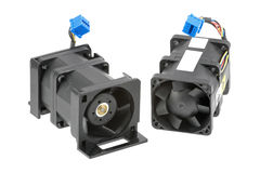 Two Dual-Rotor Fans Stock Images