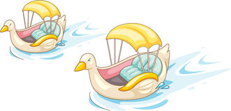 Two Duck Shaped boats Royalty Free Stock Photography