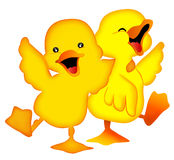 Two duckling stock illustration