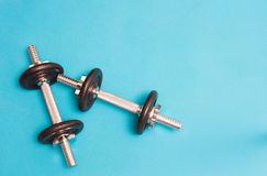 Two dumbbellls resting Stock Photography