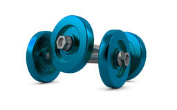 Two dumbbells Royalty Free Stock Photos