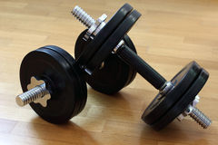 Two Dumbbells Stock Photo