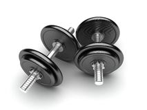 two dumbbells  Stock Photography