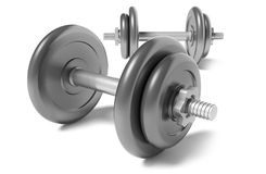 Two dumbbells Stock Images