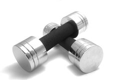 Two dumbbells Stock Photos