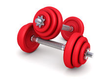 Two dumbbells Royalty Free Stock Photo