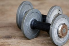 Two dumbbells Royalty Free Stock Images