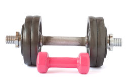 Two dumbbells close-up Stock Photography
