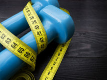 Two dumbbells for fitness weight loss Stock Photography