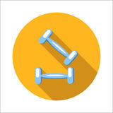 Two dumbbells flat icon Royalty Free Stock Images