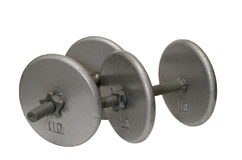 Two Dumbbells Isolated Royalty Free Stock Image