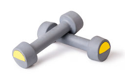 Two of dumbbells Royalty Free Stock Photo