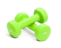 Two dumbbells one kg Stock Image