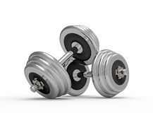Two dumbbells Stock Image