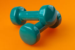 Two dumbells Royalty Free Stock Photography