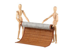 Two dummy and bamboo napkin Stock Photography