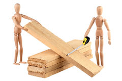 Two dummy and boards Stock Photography