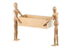 Two dummy holding a box Royalty Free Stock Photography