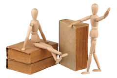 Two dummy and old books Stock Photo
