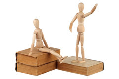 Two dummy and old books Royalty Free Stock Photography