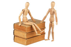 Two dummy and old books royalty free stock image