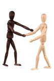 Two dummy shake hands Royalty Free Stock Photography