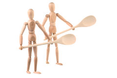 Two dummy and wooden spoons Royalty Free Stock Photo