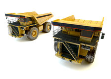Two dumper industrial trucks Stock Photos