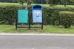 Two dustbins Royalty Free Stock Photo