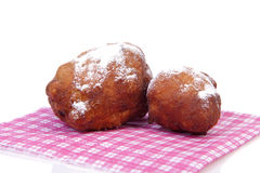 Two Dutch donut also known as oliebol, traditional New Year's ev Stock Photography