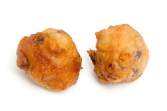 Two Dutch donut also known as oliebollen stock image