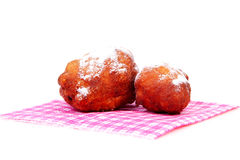 Two Dutch donut also known as oliebollen Stock Images
