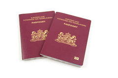 Two Dutch passport Stock Photo